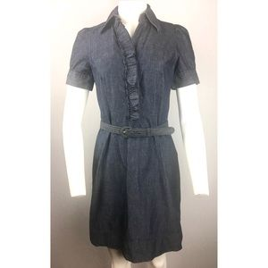 New York & Company Belted Jeans Dress 2
